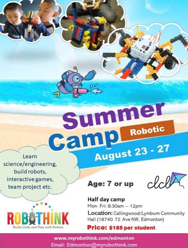 Robotic Summer Camp Aug 23-27 2021